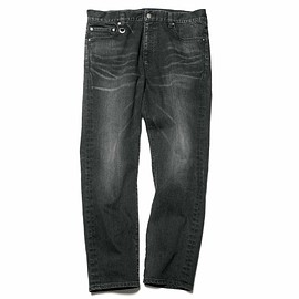 SOPHNET. - SKINNY CARROT FIT BLACK DENIM