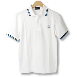 Fred Perry - FRED PERRY SHIRT M12 WhitexBluexNavy