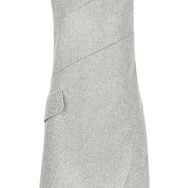 Carven - Asymmetric wool-blend mini dress