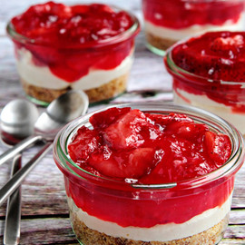 My Baking Addiction - Strawberry Pretzel Salad