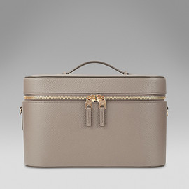 SMYTHSON - Vanity Case in dove grey calf leather