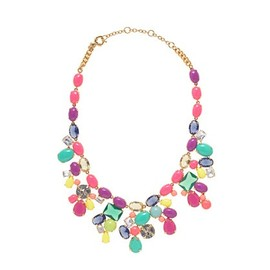 Color mix statement necklace