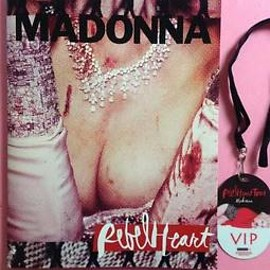 "Madonna - ""Revel Heart Tour"" Original Pamphlet with VIP Concert Pass"