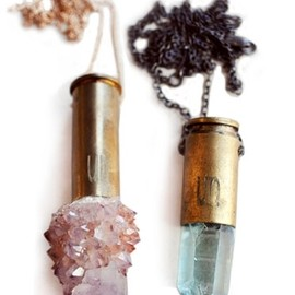 Crystal bullet necklace