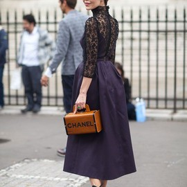 Street Style: Fall 2013&CHANEL bag.