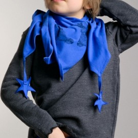 Jack n'a qu'un Oeil for Clara de Paris - Deer and Stars French Kids Fashion Scarf - Designer: Jack n'a qu'un Oeil