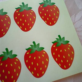 Gift seal ♪ * ~ delicious strawberry ~ * 100 pieces stickers
