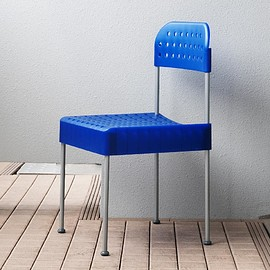 driade - Enzo Mari BOX chair driade/blue