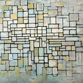 Piet Mondrian - composition in Line and color II