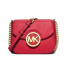MICHAEL KORS - MICHAEL Michael Kors Fulton Small Leather Crossbody Red