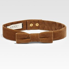 MARNI - NEW!!2012AW●MARNI●Velour Bow Belt SAND STORM  1