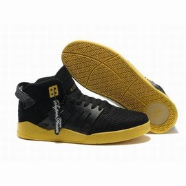 mens black yellow supra skytop 3 skate trainers
