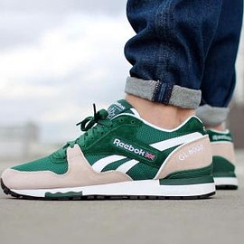 Reebok - REEBOK GL 6000 DARK GREEN/MOON WHITE/WHITE