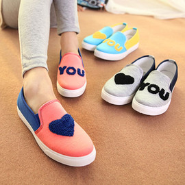 fashion - Love You Color Block Slip On Loafers Flat Casual Sneaker [grxjy5190426]