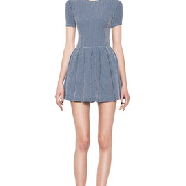 OPENING CEREMONY - Opening Ceremony Navy Pleated Dress  in Blue (navy gingham) - Lyst