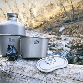 Heavy Cover Ink - Heavy Cover US GI Style Titanium Canteen Mess Kit