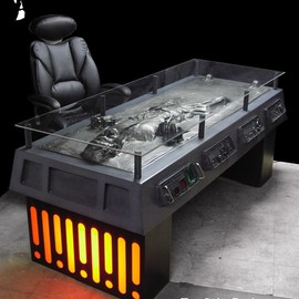 Han Solo in Carbonite one-of-a-kind desk