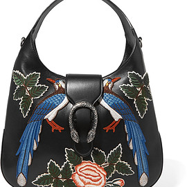 GUCCI - Dionysus Hobo large appliquéd leather shoulder bag