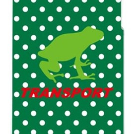 SECOND SKIN - TRANSPORT FROG グリーン×ホワイト (クリア) design by Moisture / for iPhone 4S/au