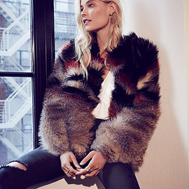 Free People - Free People Scarlet Fax Fur Jacket