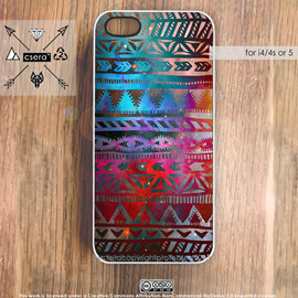 by csera - Galaxy i4s Aztec iPhone Case, iPhone5 Case, iPhone 4S Case Tribal Cases Galaxy iPhone Case Silicone Rubber Case, Hard Plastic iPhone Case,