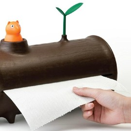 Qualy - Log & Roll Paper Towel Holder