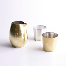 Sfera - Sake set, Hammered metal