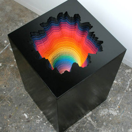 Jen Stark - A Rainbow of Hand-Cut Paper Sculptures