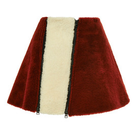 OPENING CEREMONY - FW2014 Sofie Shearling Zipper Flare Skirt