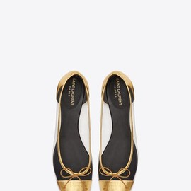 SAINT LAURENT - Ballerina Shoes in PVC and Gold