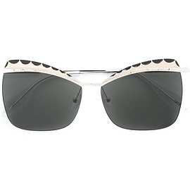 Alexander McQueen - squared cat eye sunglasses