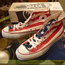 "converse - 「<deadstock>90's converse ALLSTAR HI stars & stripes""made in USA"""