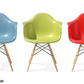 Herman Miller - Eames Shell Armchair DAW Maple Legs