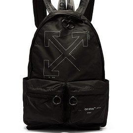 Off-White - Pre-Fall 2019 Unfinished logo-print backpack