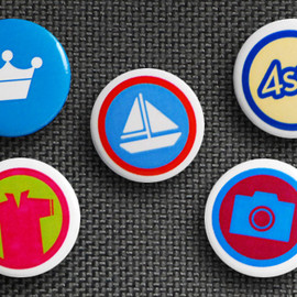 foursquare - 5 Pack of Buttons ver.2