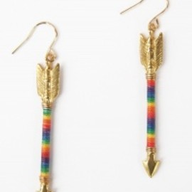Chibi Jewels - 【Chibi Jewels】Rainbow Arrow Earring[Gold]