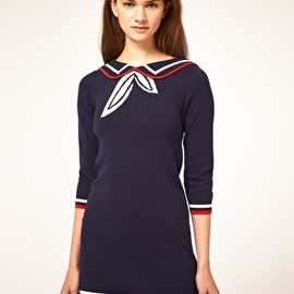 ASOS - ASOS Knitted Dress With Sailor Collar