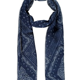 Forever 21 - Frayed Oblong Paisley Scarf