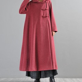 long maxi wool coats - red wool overcoat, long maxi wool coats, women winter coat, green long overcoat