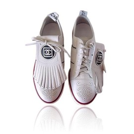 CHANEL - Chanel White Sneakers shoes シューズ