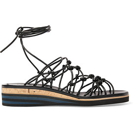 Chloé - SS2016 Knotted leather wedge sandals