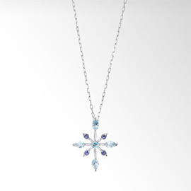 STAR JEWERY - CROSSING STAR NECKLACE