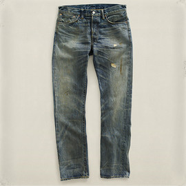 RRL - Slim Fit Faded Denim