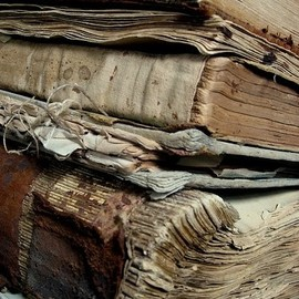 Old worn books