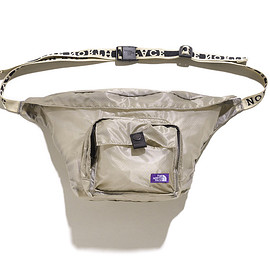THE NORTH FACE PURPLE LABEL - Lightweight Logo Tape Waist Bag-Beige