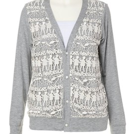 mintdesigns - COMBINATION CARDIGAN