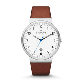 SKAGEN - Ancher Three-Hand Leather Watch