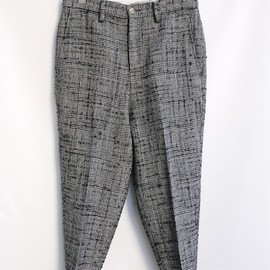 DIGAWEL - 2013AW CENTER PRESS TAPERD PANTS (GLEN CHECK)