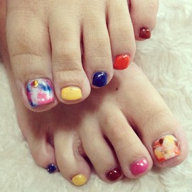 foot nail taidai タイダイネイル - Photo by naotic