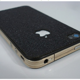 SlickWraps - Board Series Black Grip Tape for iPhone 4